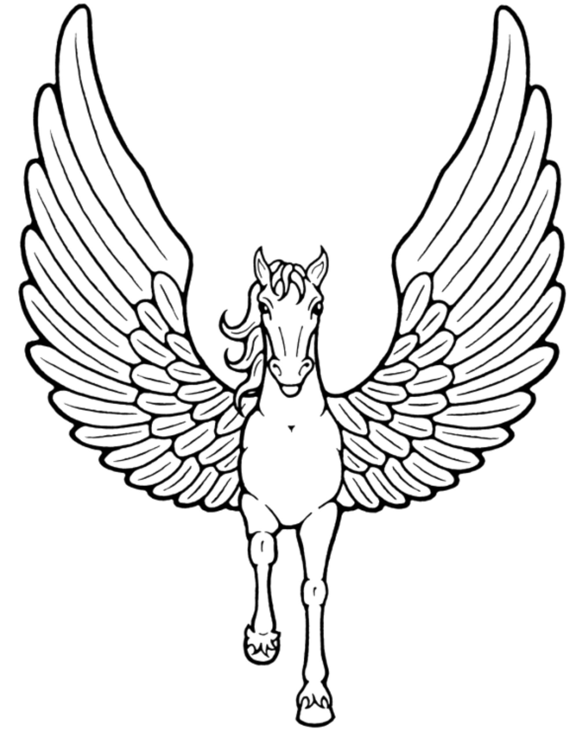 Unicorn coloring pages to print - Easy Unicorn Coloring Pages Printable Kids Colouring Pages