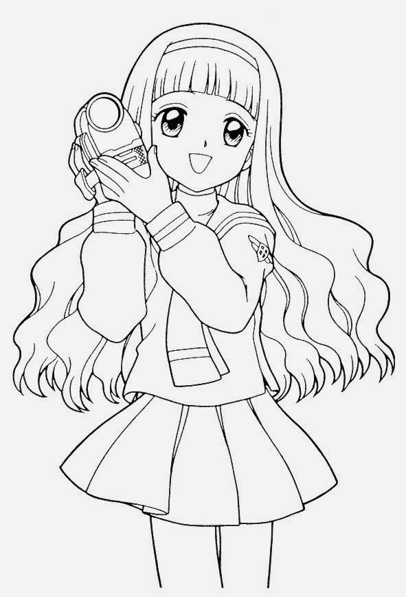 Anime Coloring Pages Online - Free Coloring Pages For Kids - Coloring Home