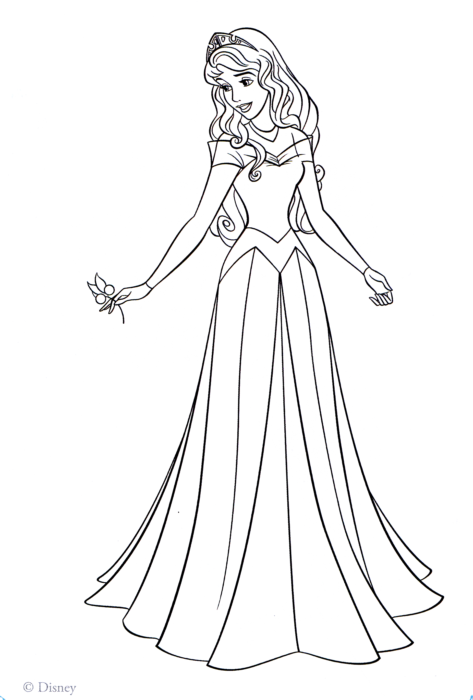 Princess Coloring Pages Spot : Aurora princess coloring pages az