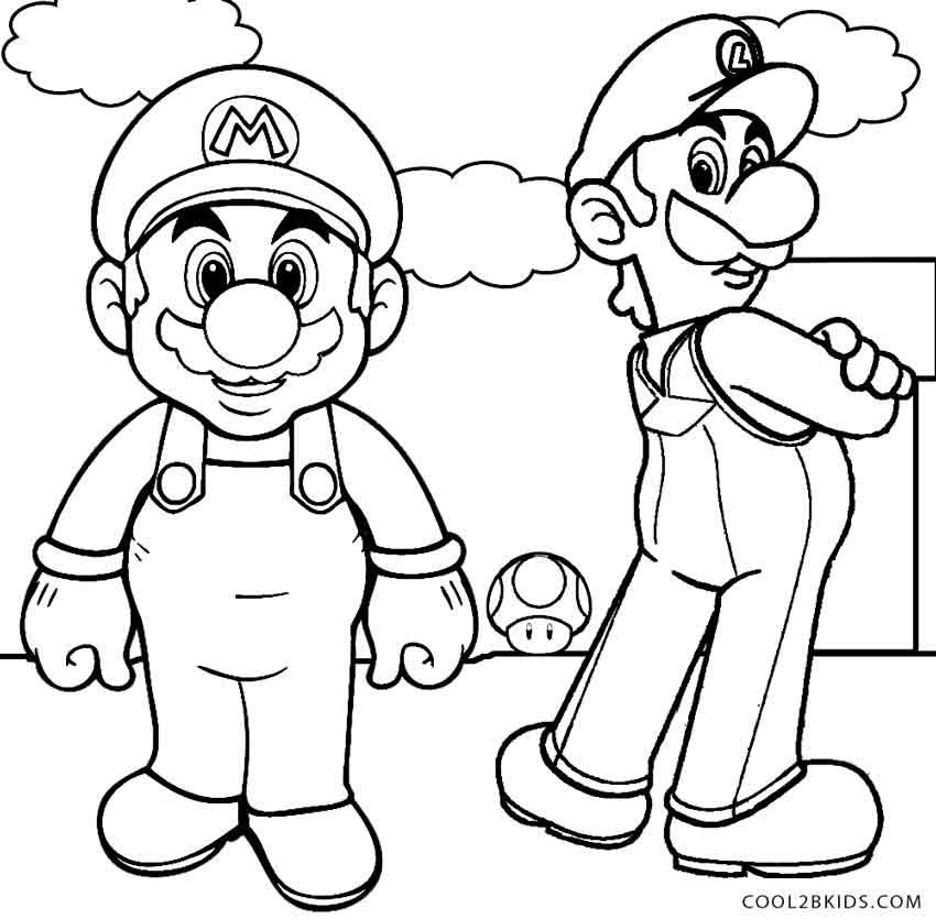 Print Mario And Luigi Coloring Pages - Coloring Home