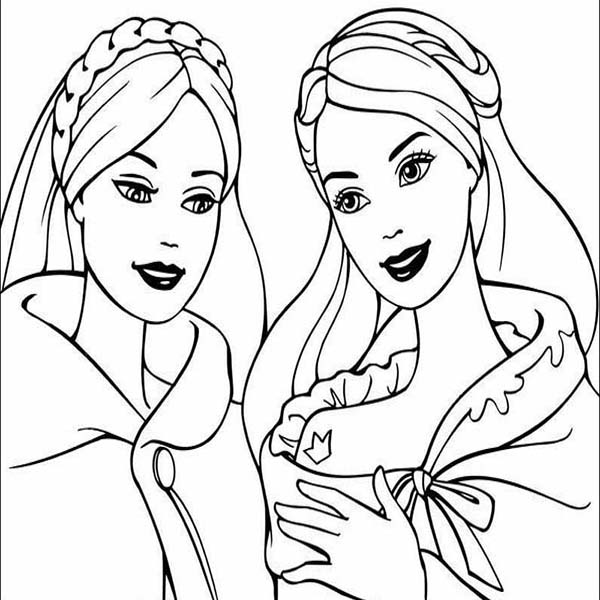 Barbie And Friends Coloring Pages - Coloring Home