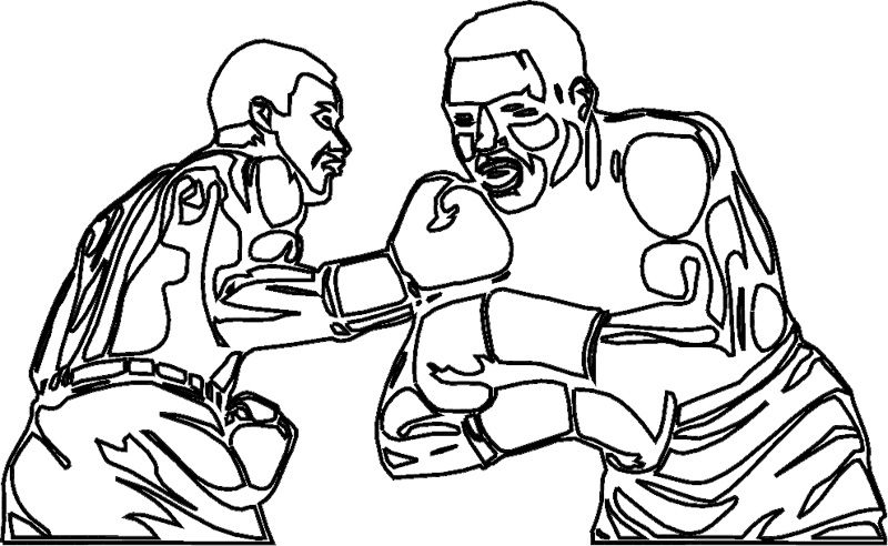 Two Boxer Fight Coloring Page | Sports coloring pages, Coloring books, Coloring  book pages