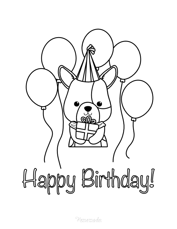 55 Best Happy Birthday Coloring Pages Free - Printable PDFs