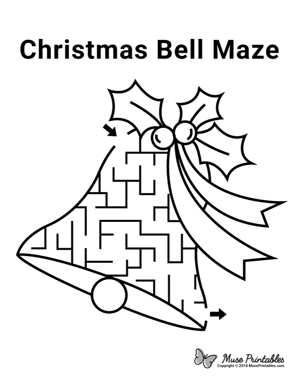 Free printable Christmas bell maze. Download it from  https://museprintables.com/download… | Fun worksheets for kids, Christmas  worksheets, Free christmas printables