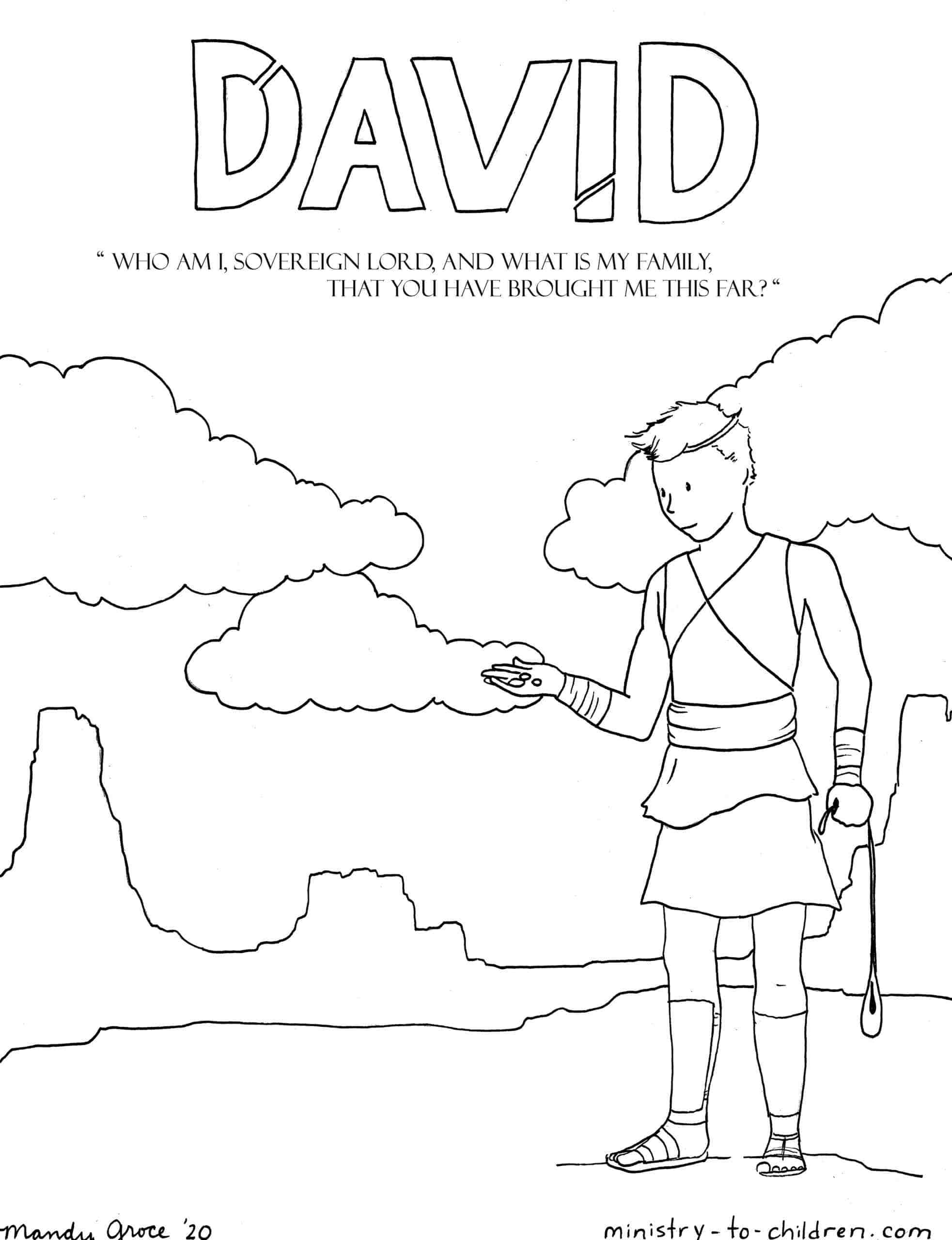 David Coloring Page | Ministry-To-Children