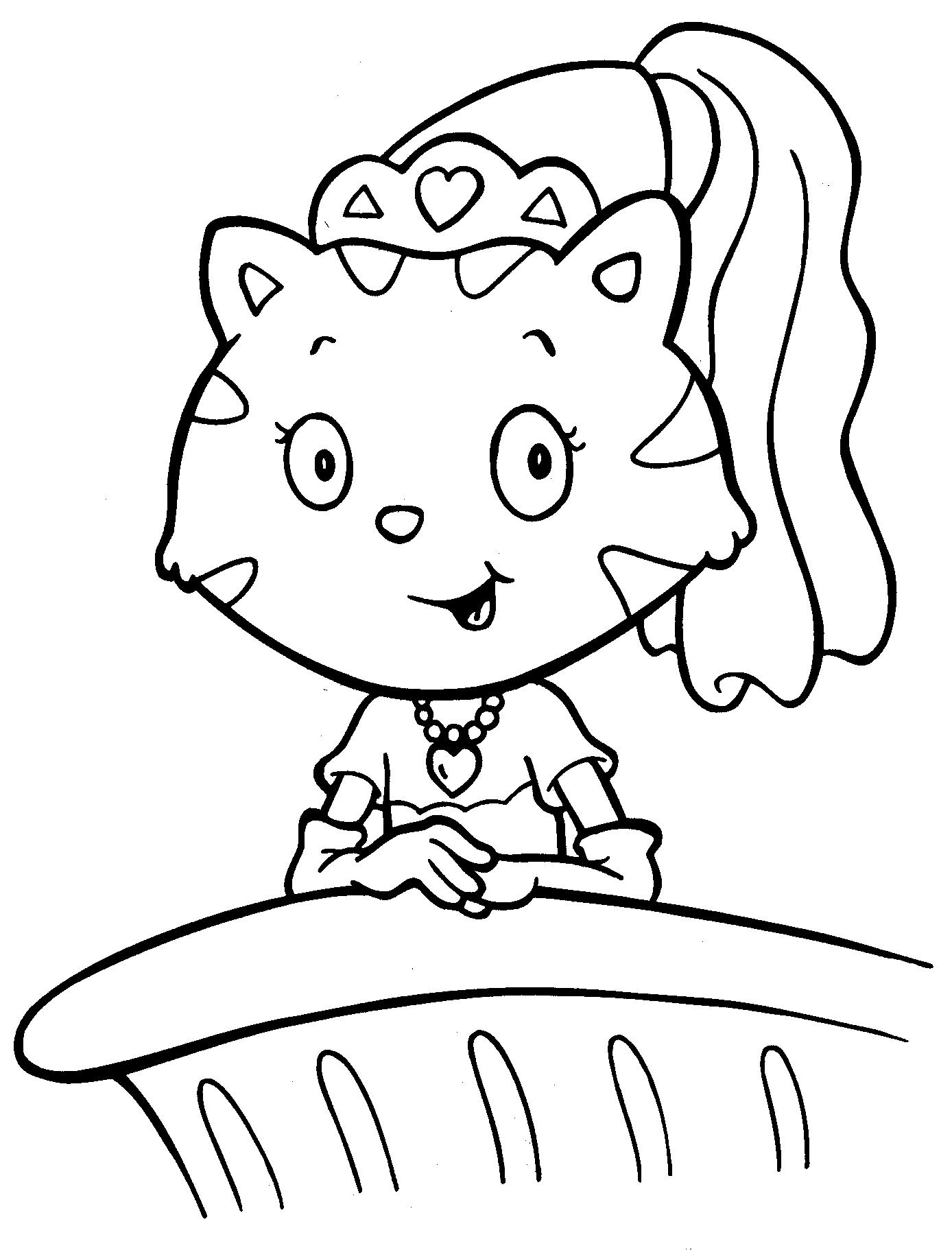Princess Kitten Coloring Pages Az Coloring Pages Princess Hello Coloring Pages