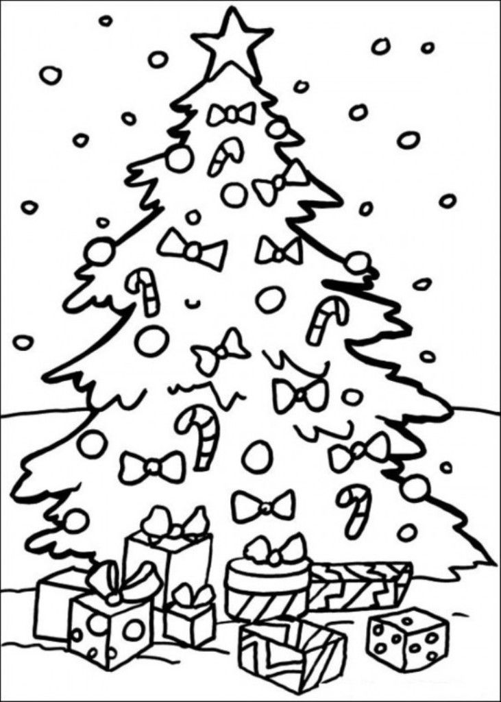 Free Printable Christmas Tree Coloring Pages Cool - Coloring pages