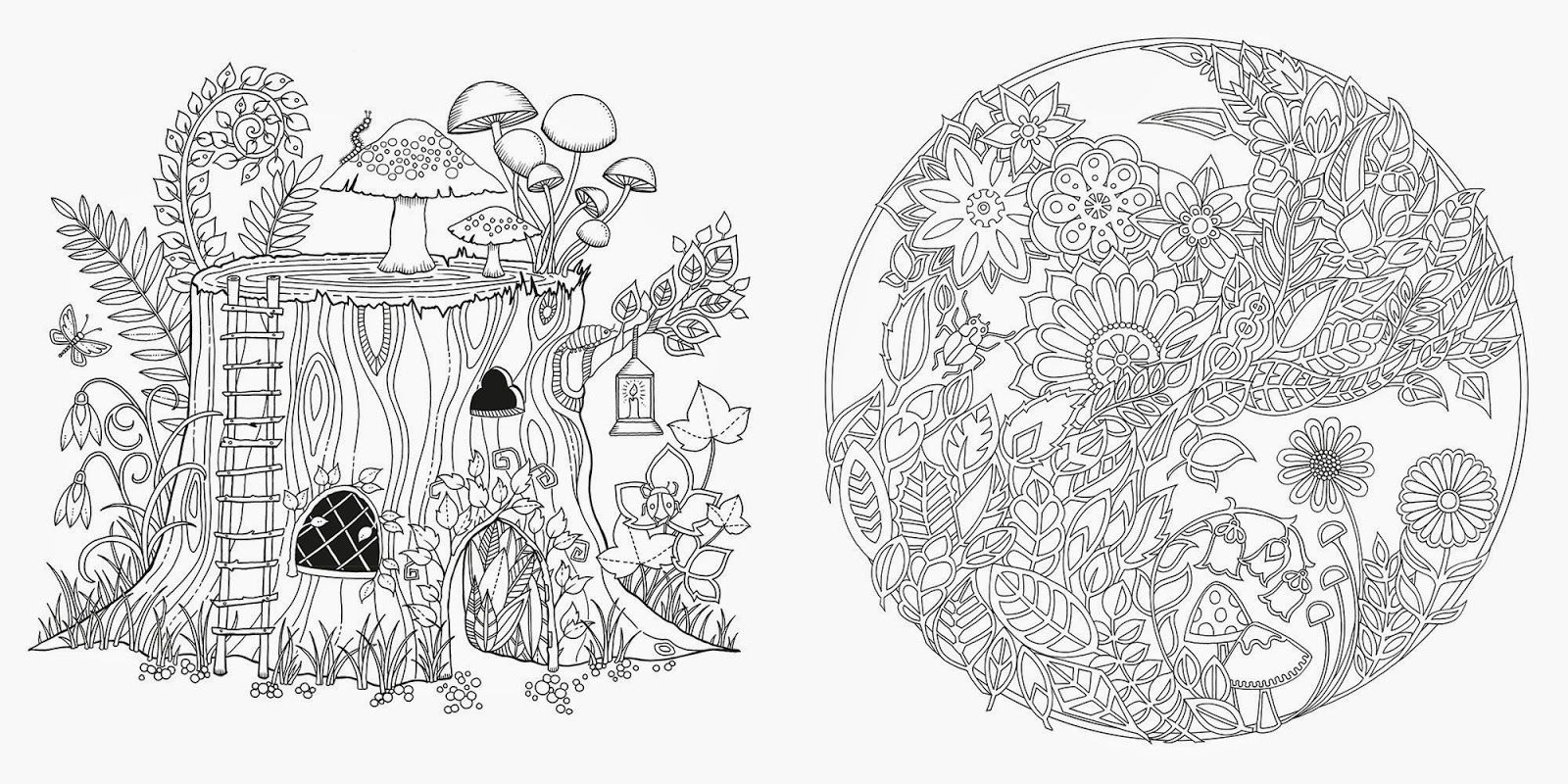 8 Pics of Enchanted Forest Coloring Pages - Secret Garden ...
