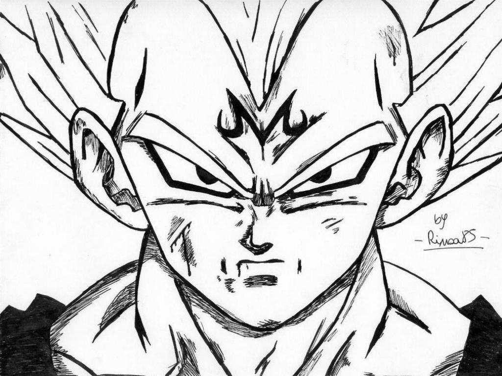 Dbz vegeta coloring pages coloring home - Dessin de vegeta ...