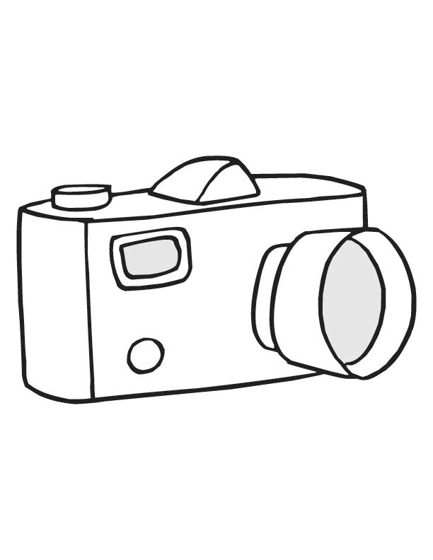 Camera Coloring Sheet Coloring Pages For Kids And For Adults
