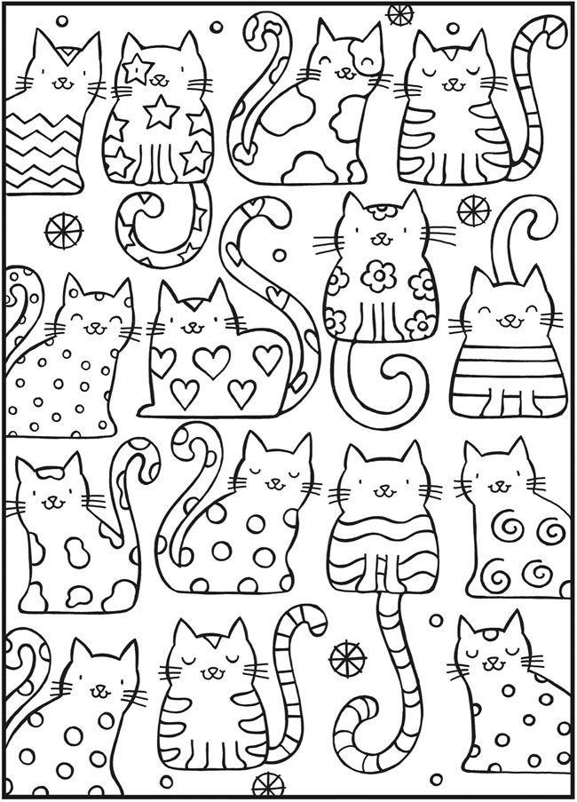 Раскраски про котов распечатать