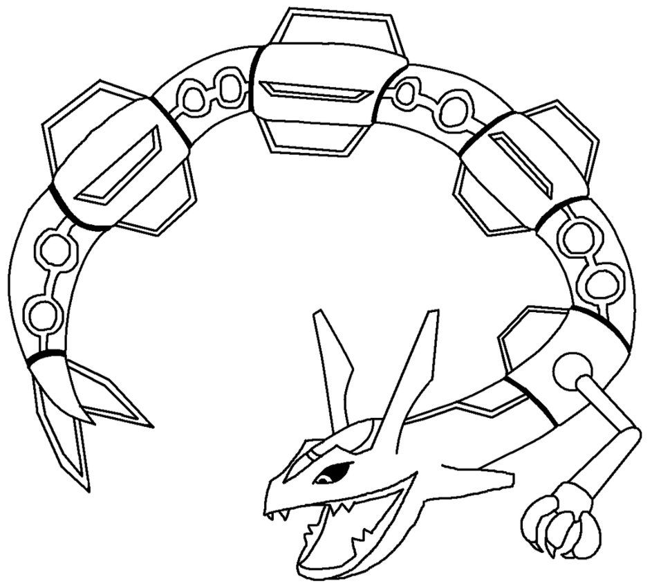 Pokemon coloring pages rayquaza az coloring pages - Coloriage pokemon rayquaza ...