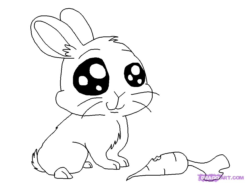 Cute Baby Bunny Coloring Pages - Coloring Home