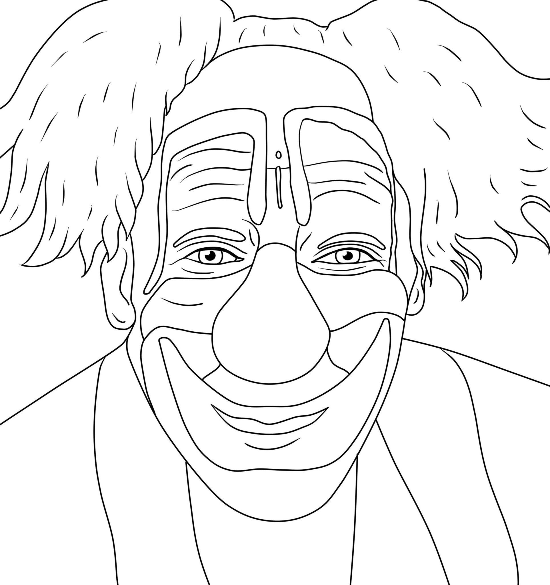 Creepy Clown Coloring Pages - Coloring Home