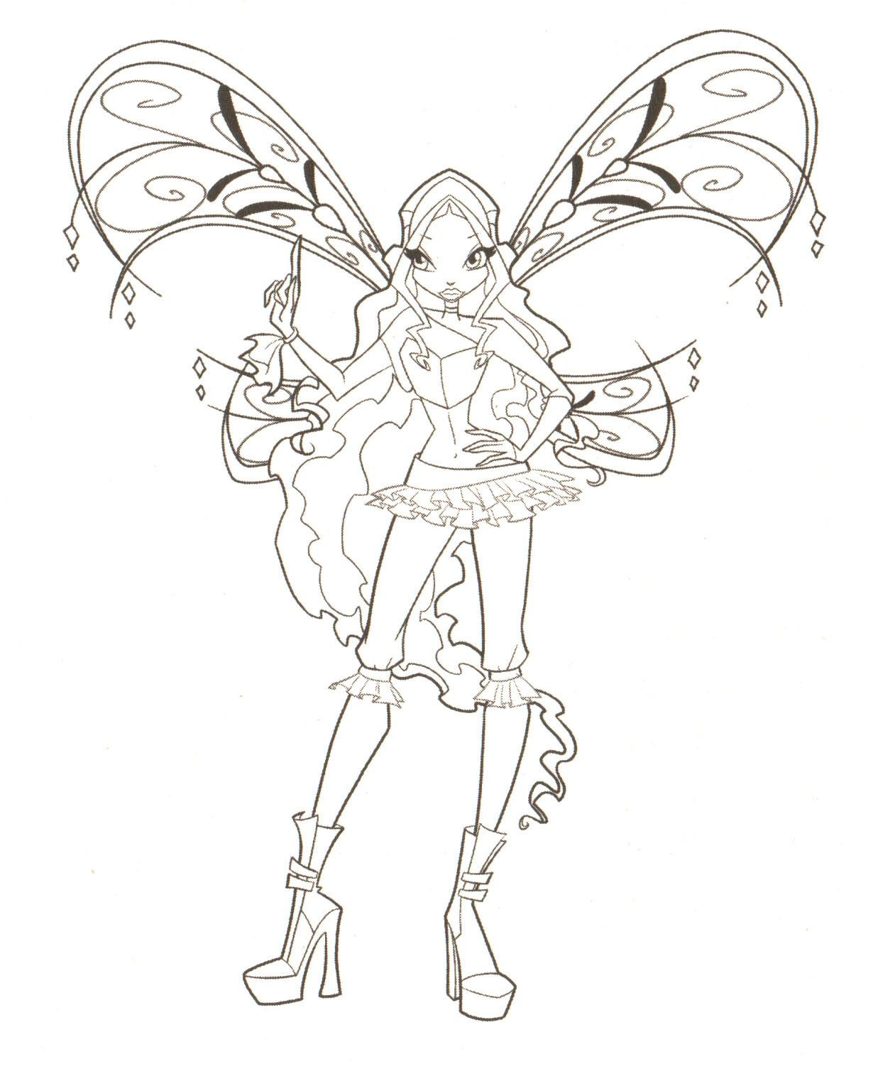 Bloom Pages Winx Enchantix Coloring - Club Coloring Home