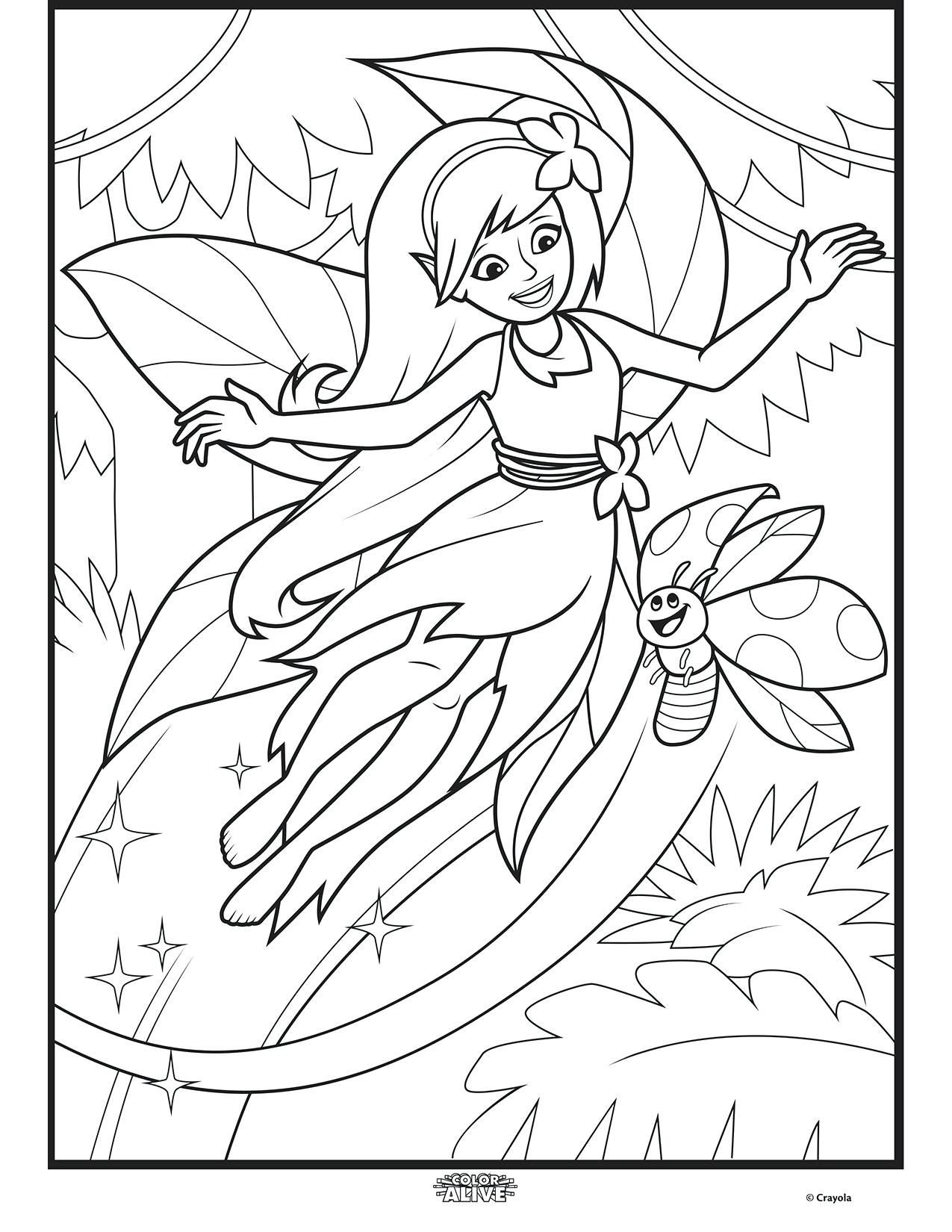 Top 47 Dandy Color Alive Enchanted Forest Fairy Coloring Page ...