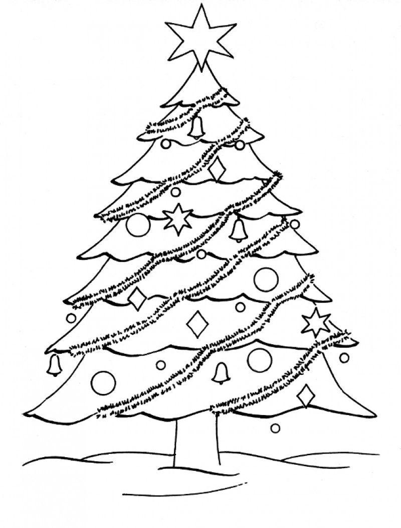 Blank christmas tree coloring home for Christmas tree printable coloring page