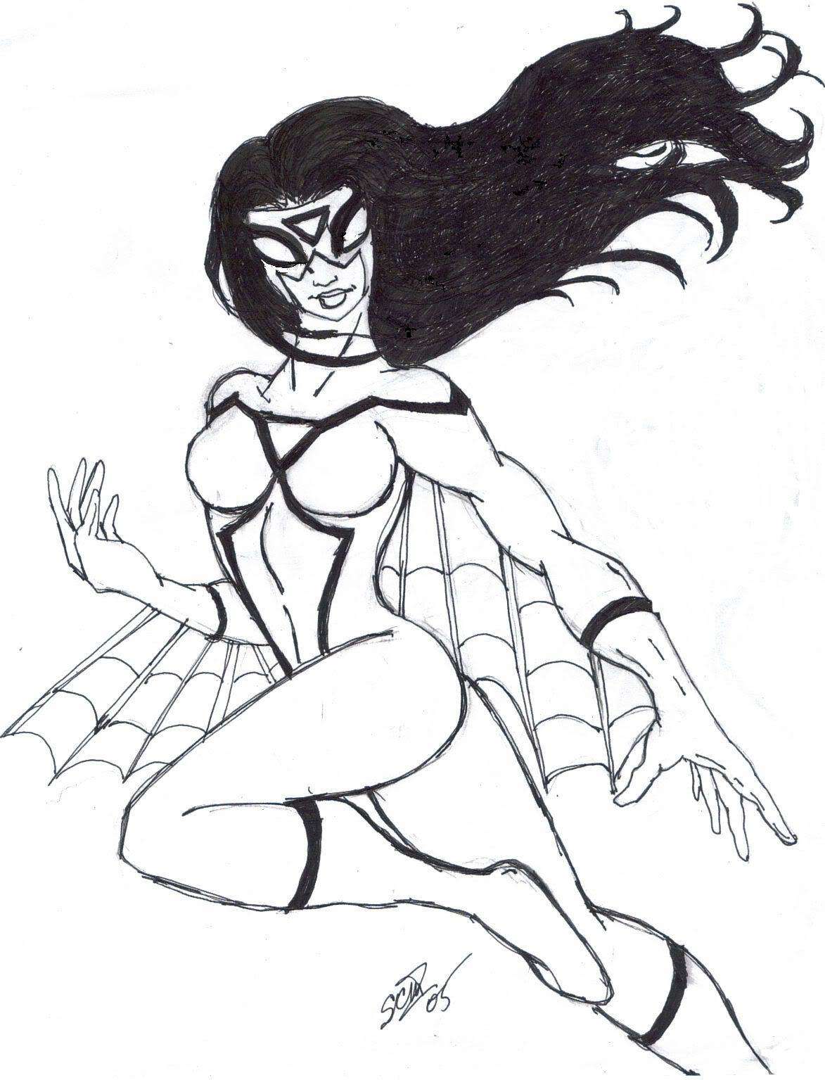 amazing Spider-Woman Superhero Printable coloring pages for ...