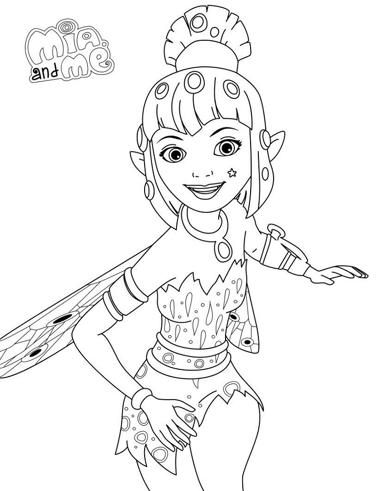 mia and me coloring pages  coloring home