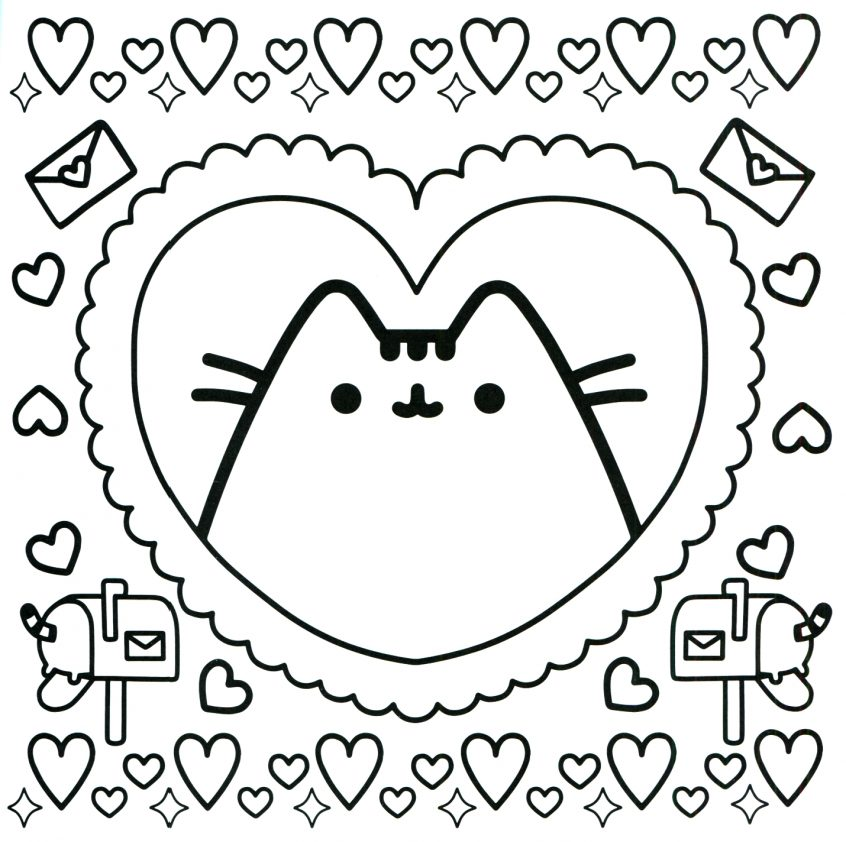 - Top Coloring Pages: Pusheen Cat Coloring Pages For Kids With - Coloring  Home