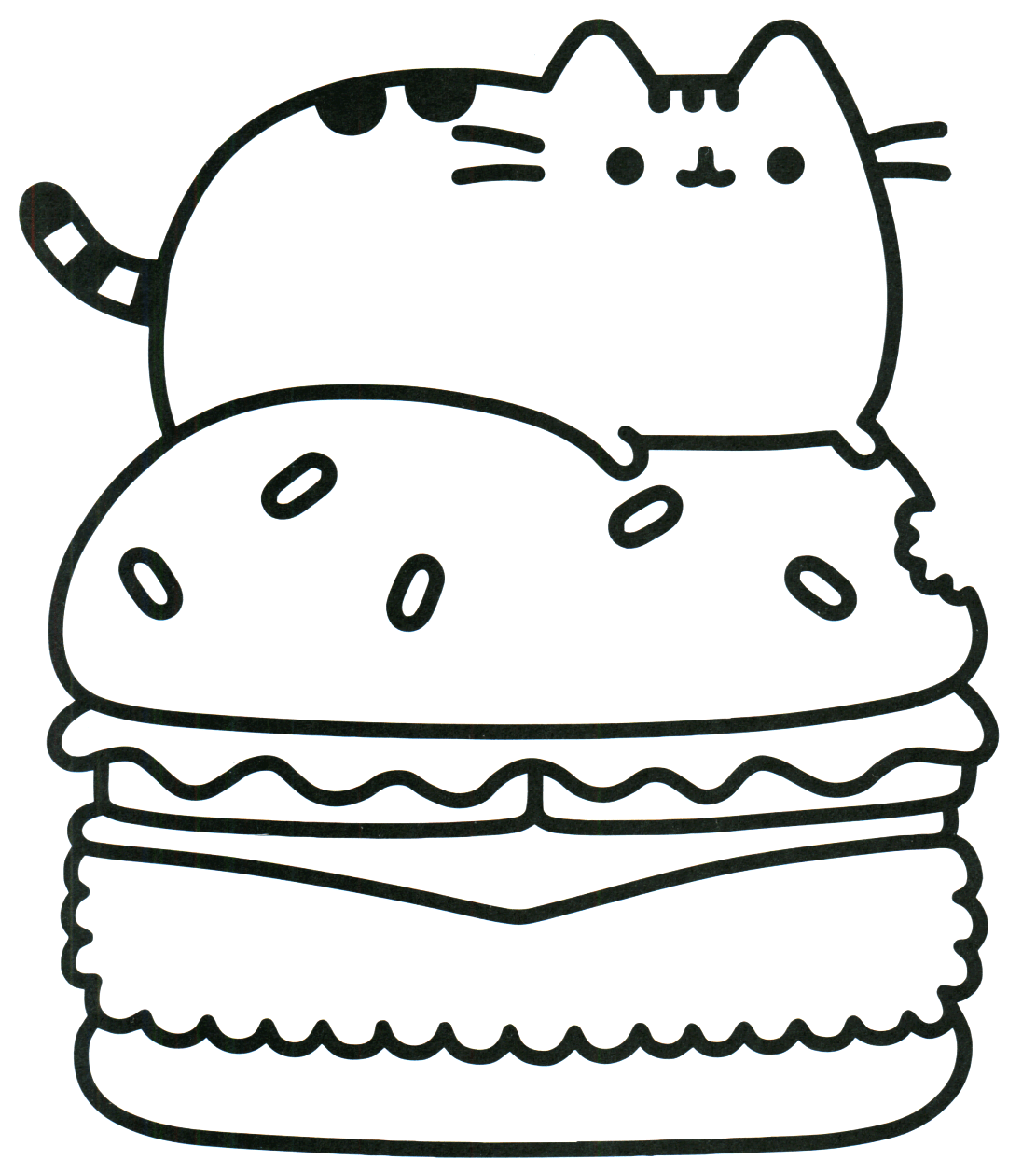 Pusheen Cat Coloring Pages | Cat coloring page, Pusheen ...