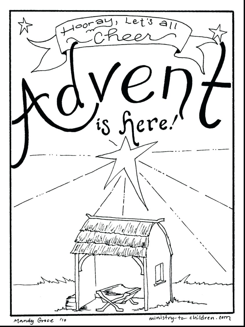 Free Printables and Coloring Pages for Advent - Zephyr Hill | 1130x846