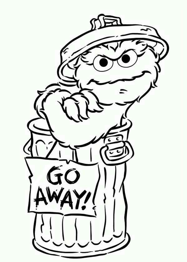 oscar the grouch coloring page - oscar the grouch coloring page coloring home
