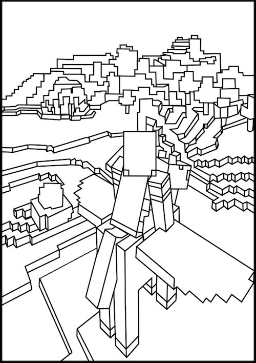 Minecraft #75 (Video Games) – Printable coloring pages