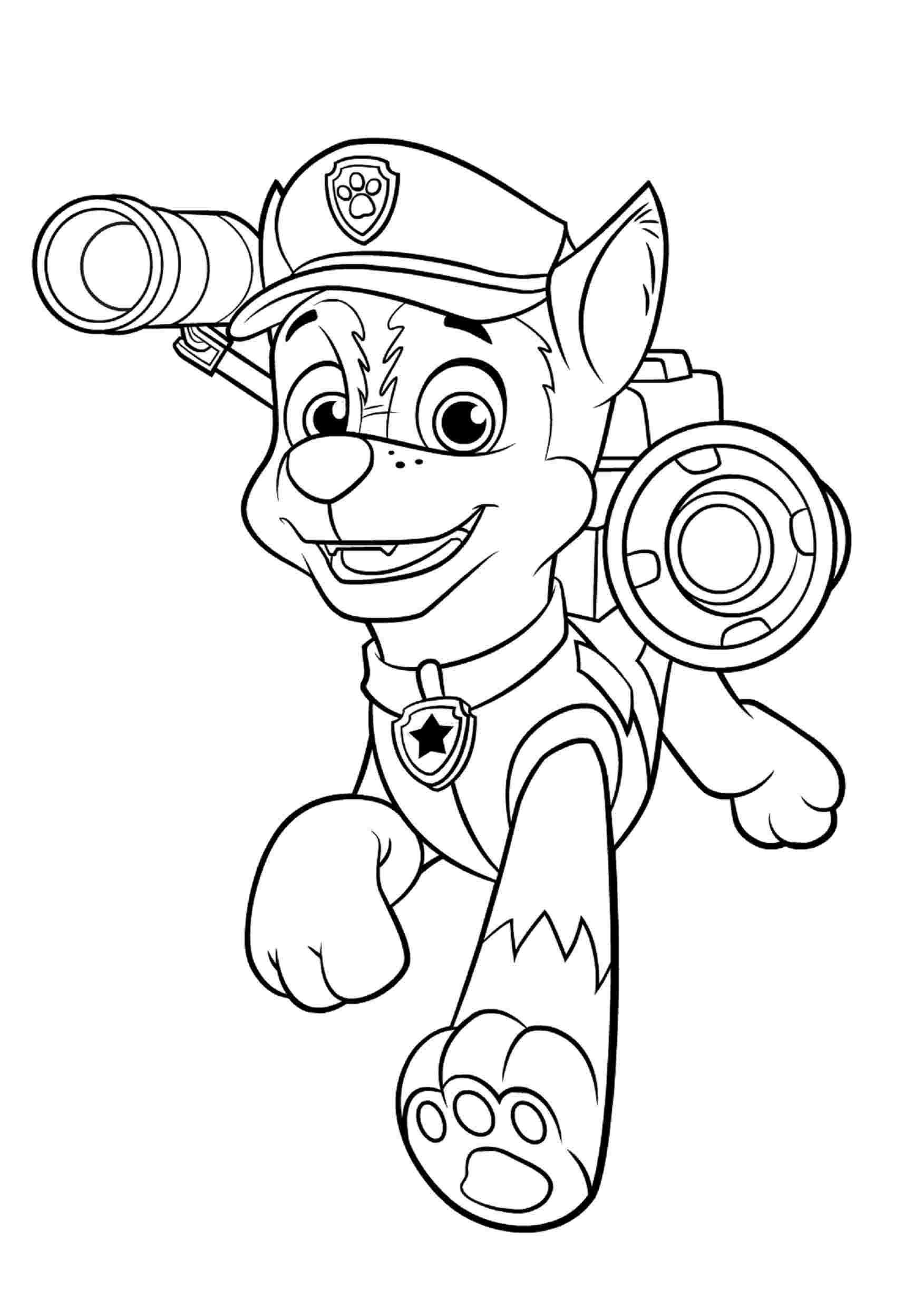 Coloring Pages : Paw Patrol Ryder And Coloring Tracker Printable ...
