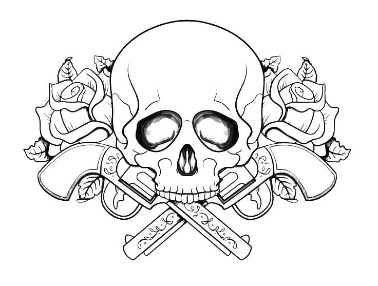 - Skull Tattoo Coloring Pages - Coloring Home