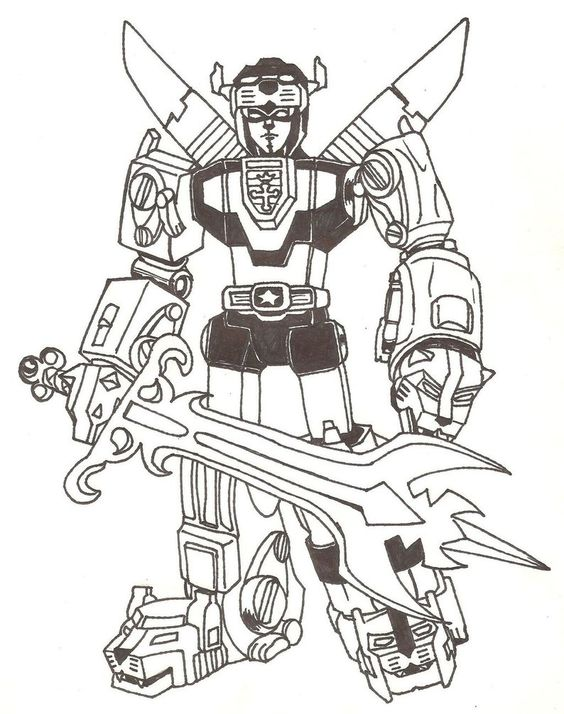 Voltron Coloring Pages Coloring