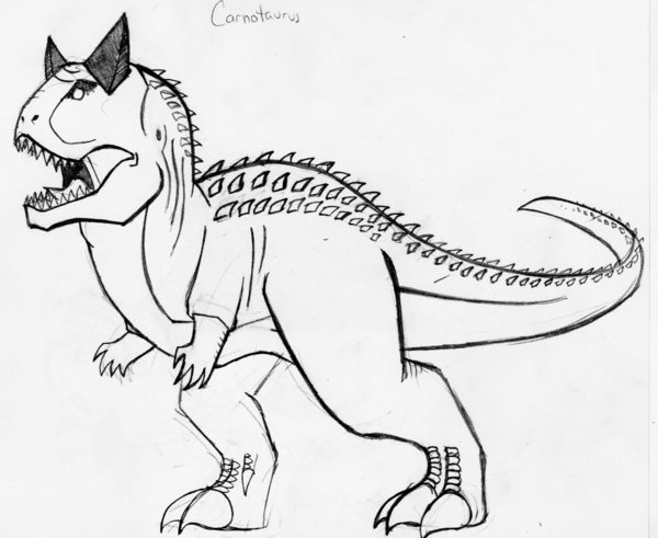 Carnotaurus Coloring Pages Coloring Home