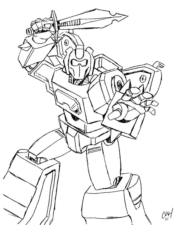 transformer bumblebee coloring pages - photo#13