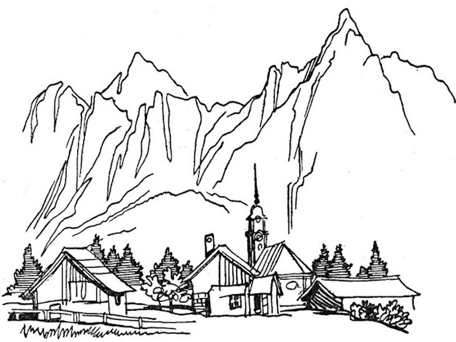 lake scene coloring pages - photo#21