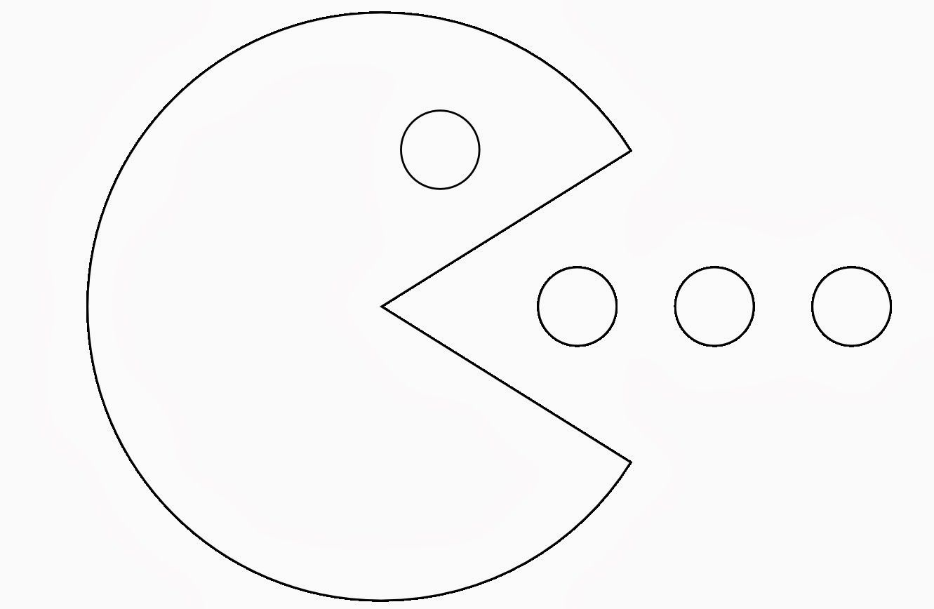 pac man coloring page - High Quality Coloring Pages