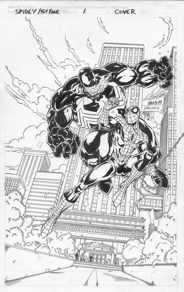 Venom Vs Spiderman Coloring Pages - Coloring Home