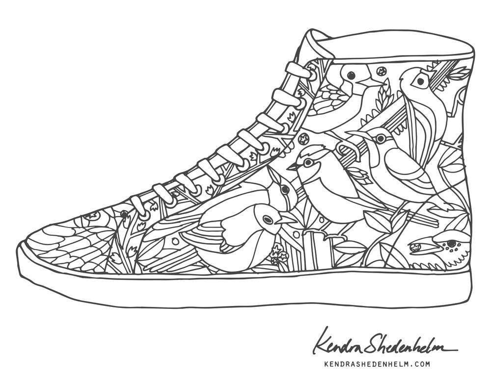 Printable Coloring Pages Shoes - High Quality Coloring Pages
