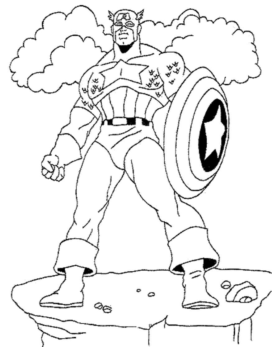 Marvel Captain America Coloring Pages - Coloring Home