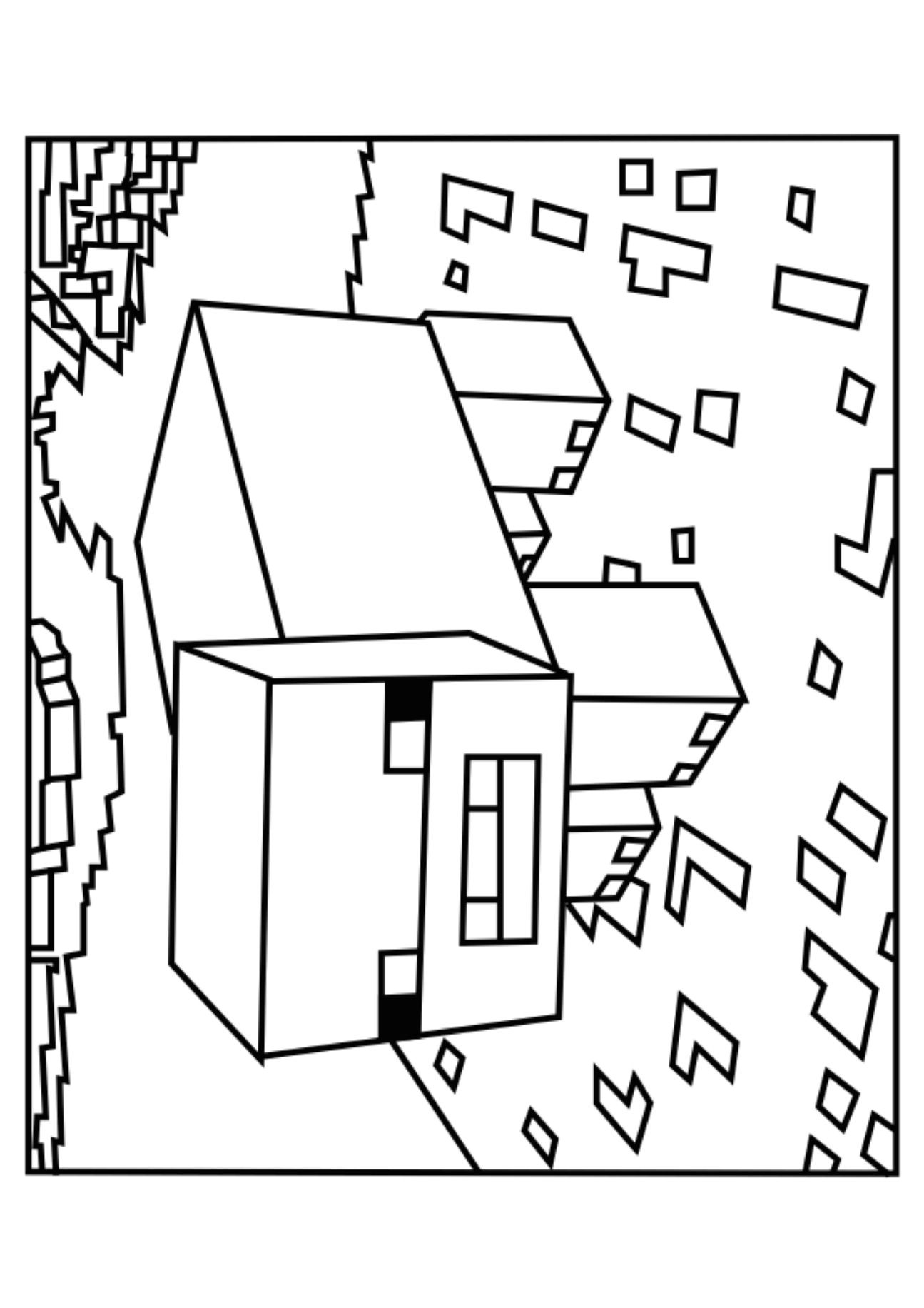 Printable Coloring Pages Minecraft Coloring Home