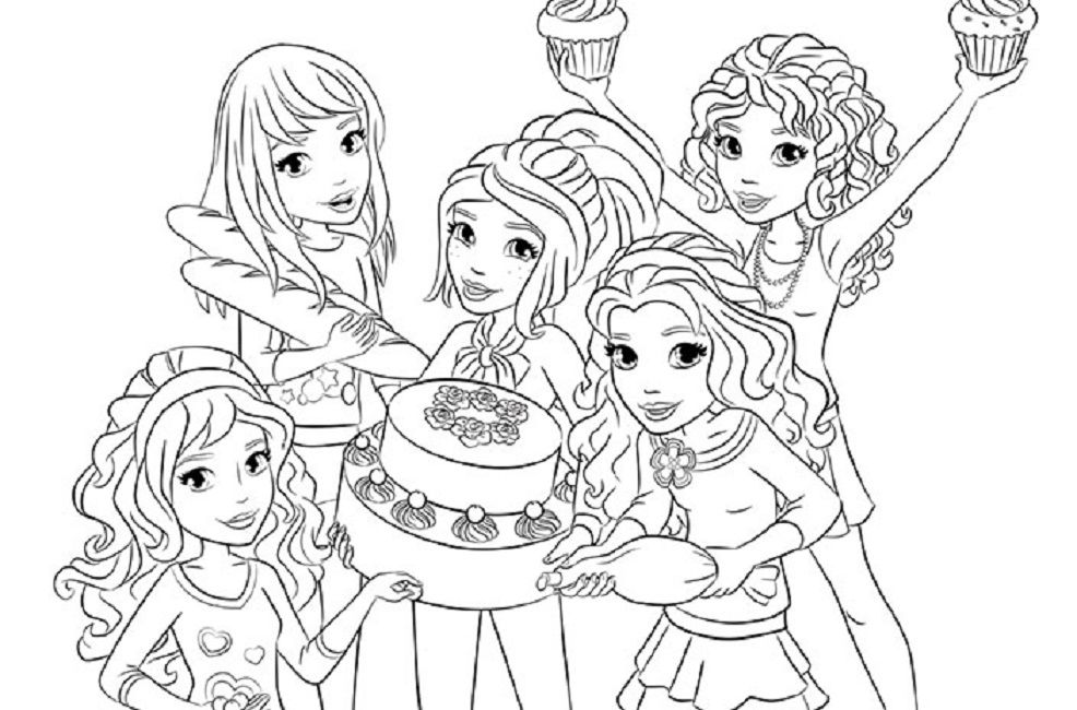 Lego Friends Coloring Pages Printable Free Free Coloring Pages