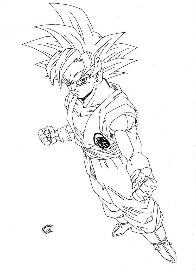 Dragonball Z - Super Sayan GOD Lineart by TriiGuN on DeviantArt