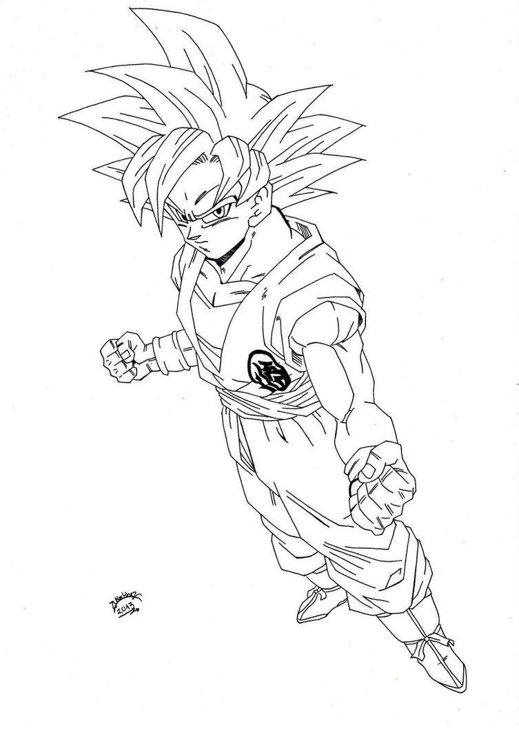 super saiyan god coloring pages - photo#1