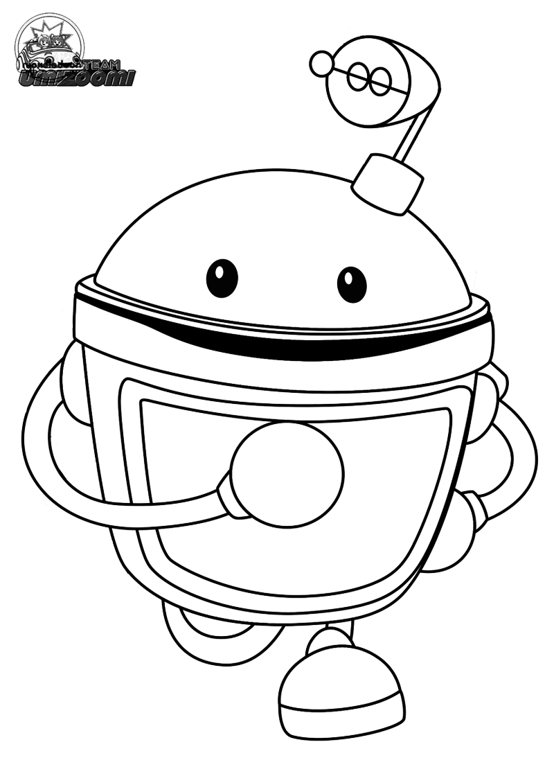 free team umizoomi coloring pages printable marty line art