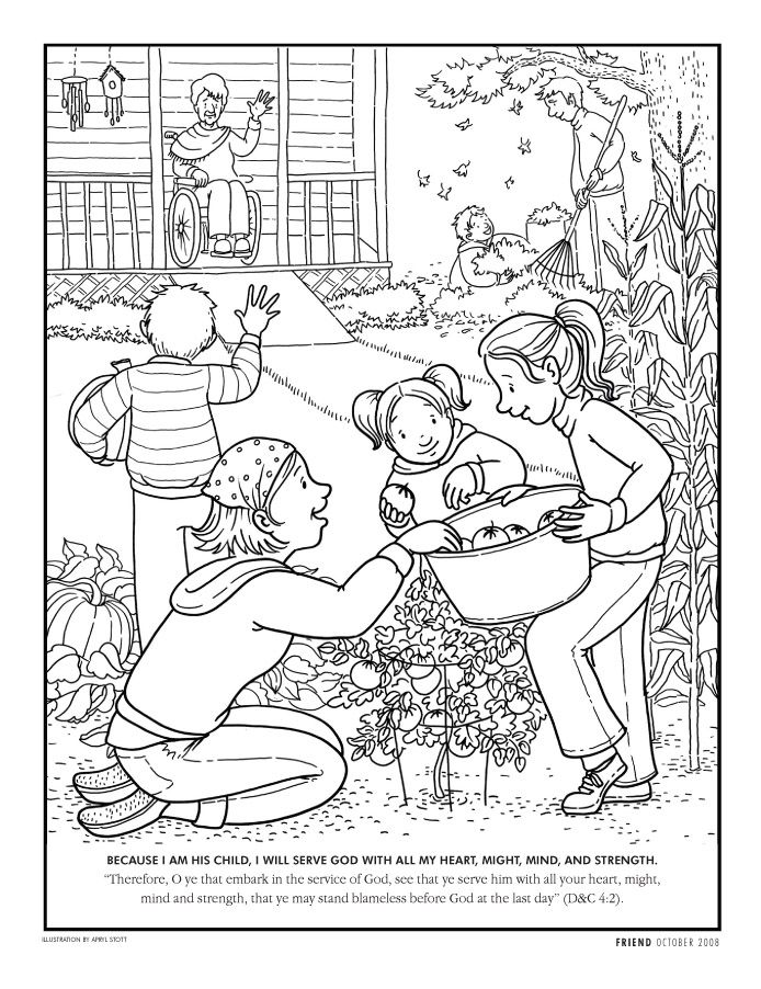Obedience Coloring Page Coloring