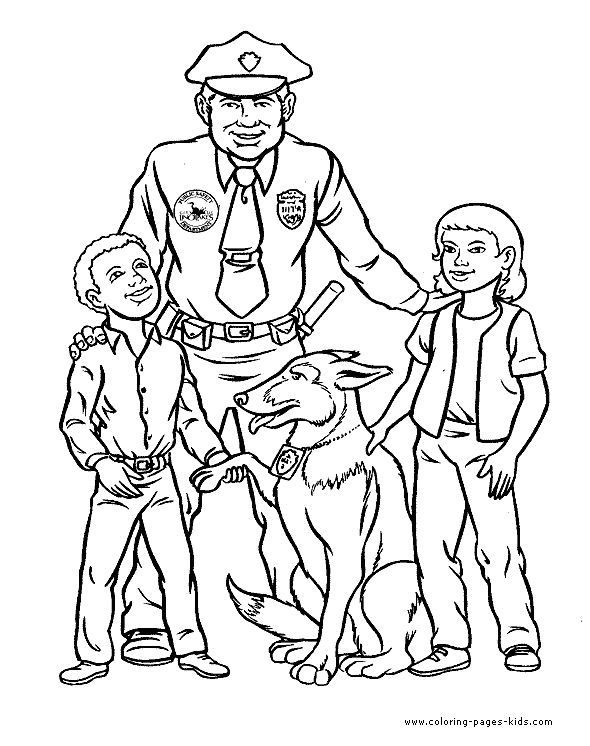 Police Officer Coloring Page | Free Coloring Pages on Masivy World