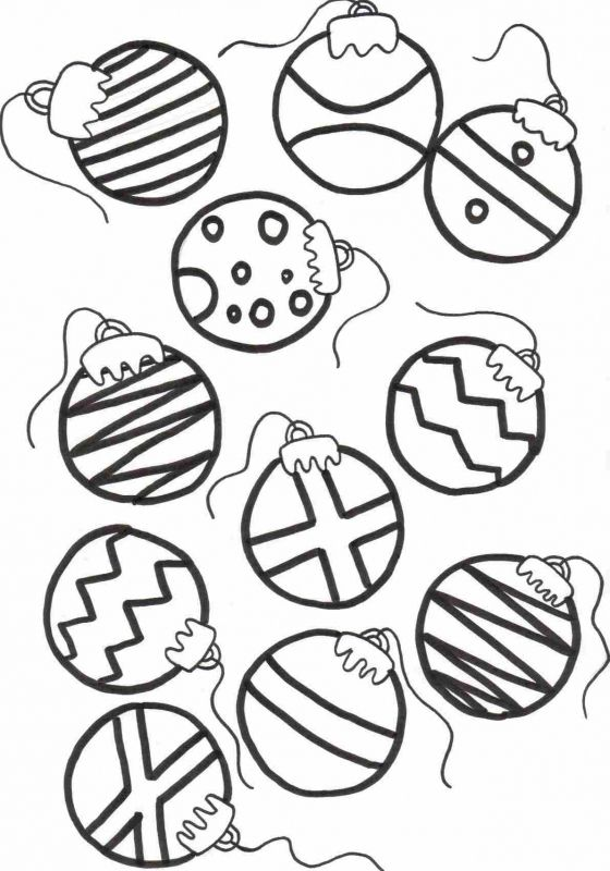 Printable christmas ornaments for kids coloring home for Coloring pages ornaments