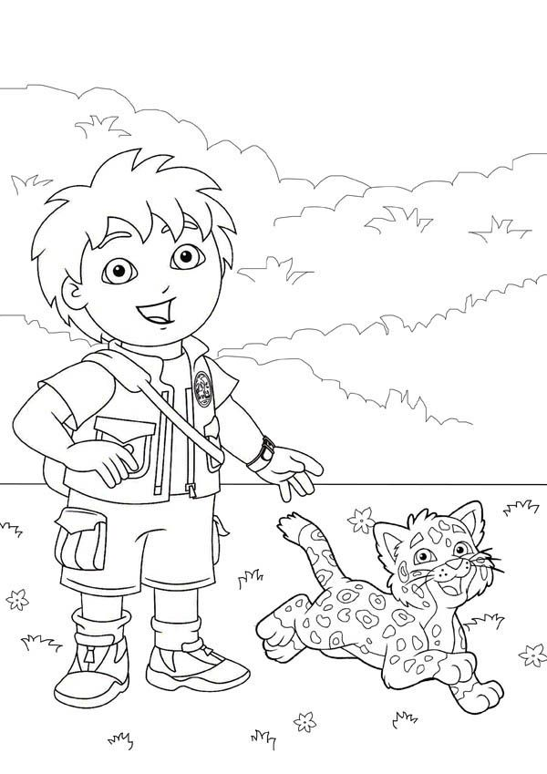 diego baby jaguar coloring pages - photo#22