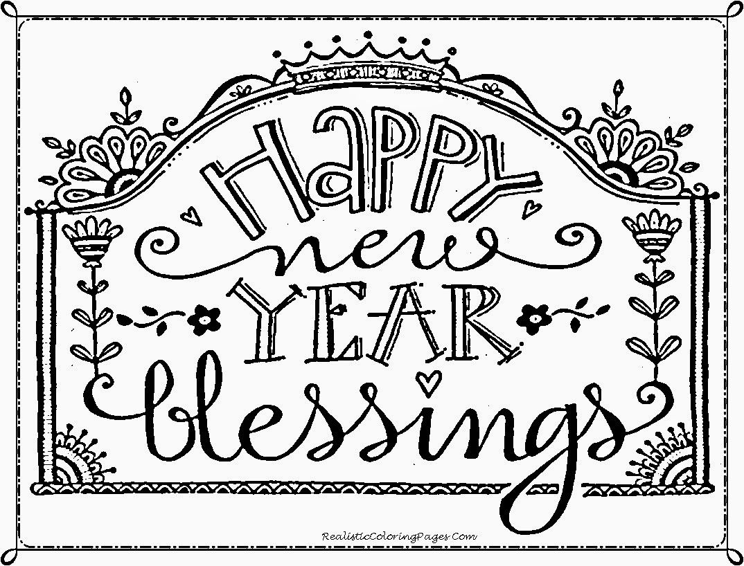 Happy new year coloring pages coloring home for New coloring pages