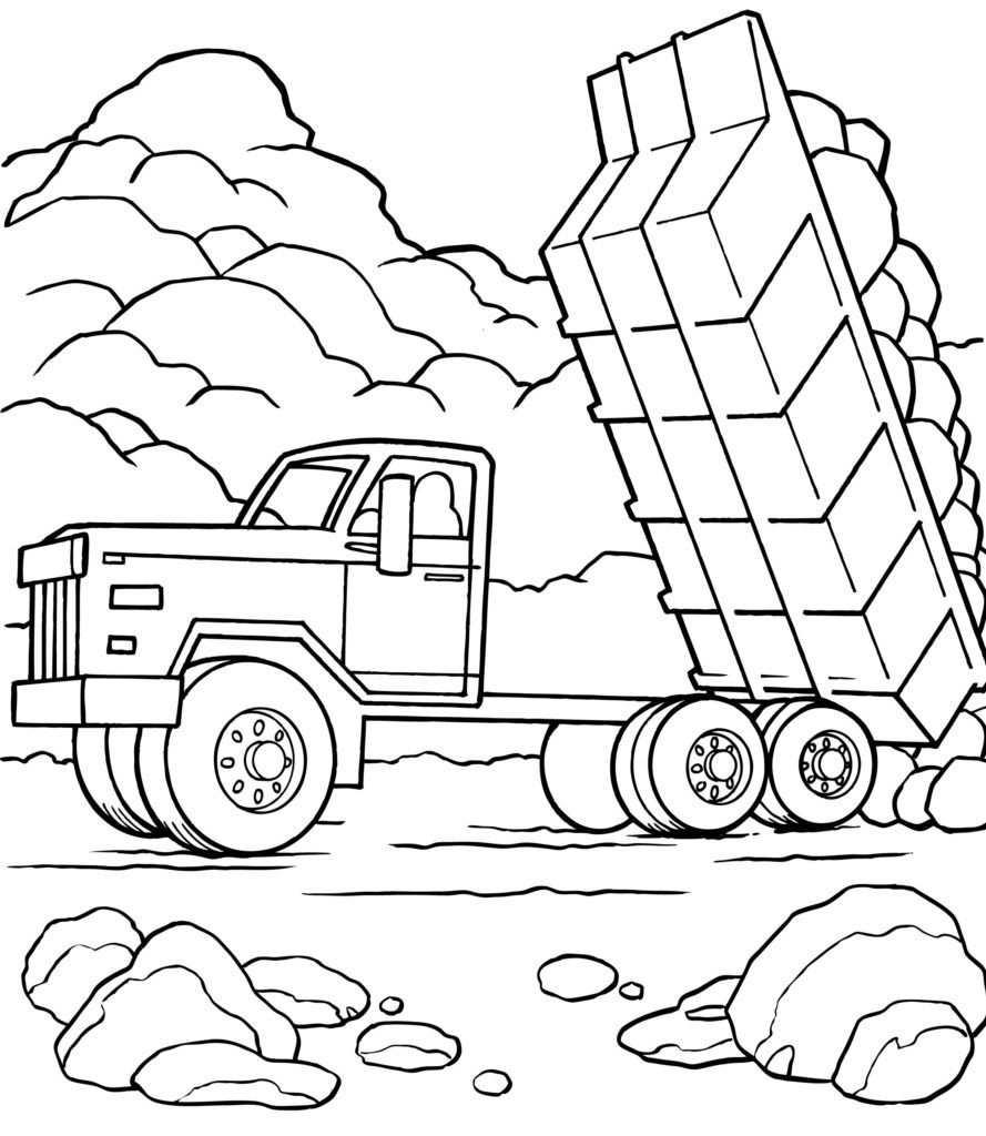 Truck Coloring Book Dump Truck Coloring Pages Printable ...