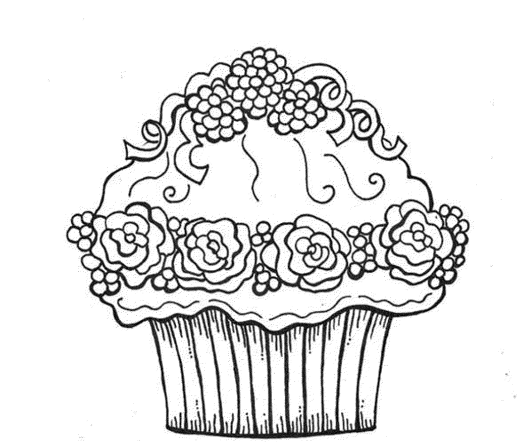 Free Cupcake Coloring Pages Az Coloring Pages
